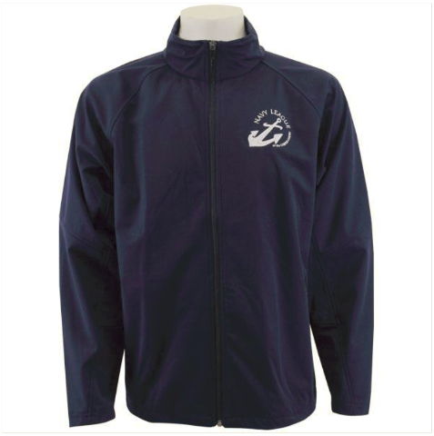 Vanguard NAVY LEAGUE NAVY BLUE SOFT SHELL JACKET WITH WHITE LOGO - LARGE
