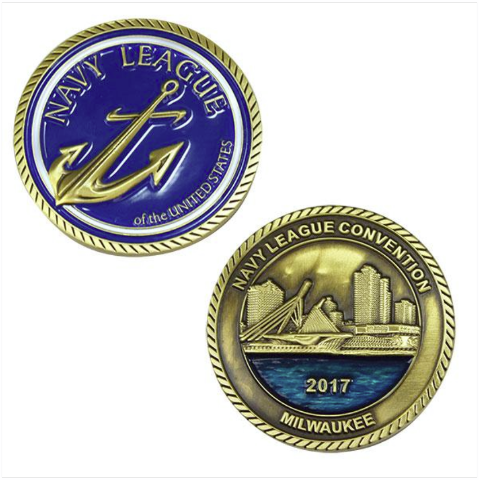 Vanguard NAVY LEAGUE 2017 CONVENTION COIN - ANTIQUE GOLD