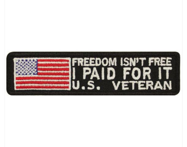 Vanguard VETERAN PATCH: FREEDOM ISN'T FREE