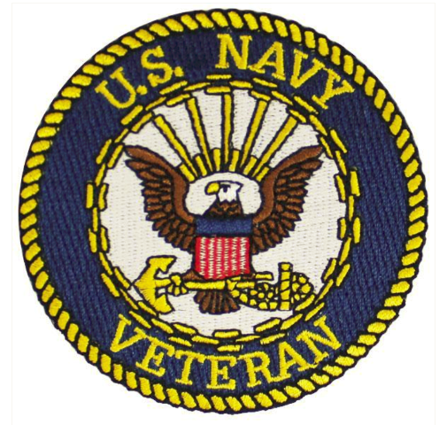 Vanguard VETERAN PATCH: US NAVY