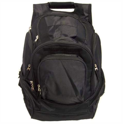 Vanguard YOUNG MARINES BLACK BACKPACK: PLAIN