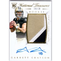 Garrett Grayson 2015 Panini National Treasures Gold Patch On Card Autograph /10