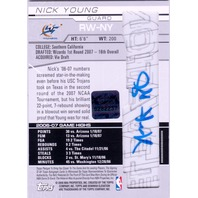 NICK YOUNG 2007-08 Bowman Elevation Green /5 Rookie Writings Jersey Auto Card