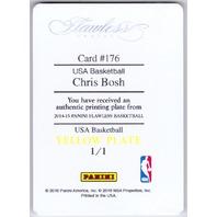 Chris Bosh 2015-16 Panini Flawless USA Basketball Yellow Printing Plate 1/1
