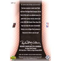 JARRETT JACK 2005-06 Ultimate Collection Patches Rookie Prime Patch Card 44/75