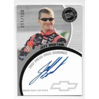 Jeff Burton NASCAR 2007 Press Pass Signings auto /100 Autograph