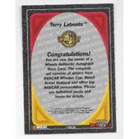 Terry Labonte NASCAR 1999 Wheels Authentics auto  blue Autograph