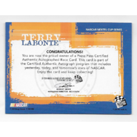 Terry Labonte NASCAR 2005 Press Pass Authentics auto blue Autograph
