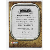 Terry Labonte NASCAR 2010 Press Pass Authentics auto /119 Autograph