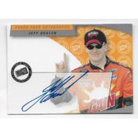 Jeff Burton NASCAR 2002 Press Pass Authentics auto blue Autograph