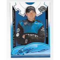 Scott Wimmer NASCAR 2002 Wheels Authentic Autographs blue autograph