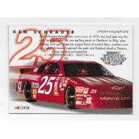 Ken Schrader NASCAR 1996 Fleer Ultra auto black autograph