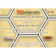 SONJAY DUTT 2008 TriStar TNA Wrestling Impact Autograph Card Auto