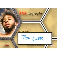 JAY LETHAL 2008 TriStar TNA Wrestling Impact Autograph Card Auto