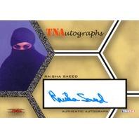 RAISHA SAEED 2008 TriStar TNA Wrestling Impact Autograph Card Auto