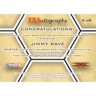 JIMMY RAVE 2008 TriStar TNA Wrestling Impact Autograph Card Auto