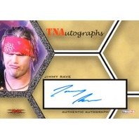 JIMMY RAVE 2008 TriStar TNA Wrestling Impact Autograph Card Auto