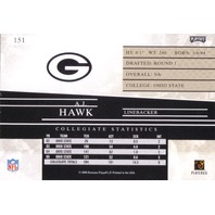 AJ HAWK 2006 Playoff Prestige Short Printed Rookie Card RC