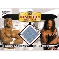 BOBBY LASHLEY KING BOOKER T 2006 Topps Heritage II WWE Ringside Relics Mat Card