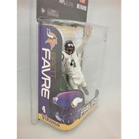 2010 Brett Favre McFarlane Figure Minnesota Vikings NFL Elite White Jersey