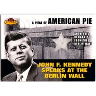 John F Kennedy Berlin Wall Remnants 2001 Topps American Pie Relic Card PAPM2 jfk