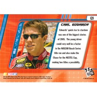 CARL EDWARDS 2005 Press Pass Optima Gold Parallel Card #G9 35/100
