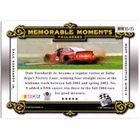 DALE EARNHARDT JR. 2007 Legends Memorable Moments Gold 72/169 Card Talladega Win