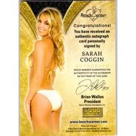 SARAH COGGIN 2013 Benchwarmer Gold Edition 36/50 Autograph Foil Card Auto