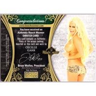 CECILLE GAHR 2013 Benchwarmer Gold Edition 9/25 Bikini Swatch Pink Foil Card