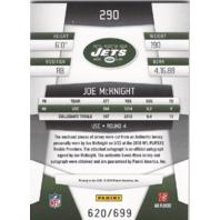 Joe McKnight 2010 Jets Auto RC Rookie Panini Certified Freshman Fabric Ltd.#/699