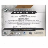 Tyler Seguin 2013-14 SP Authentic Hockey Authentic Moments Autograph Auto SPA