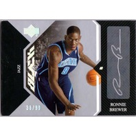 RONNIE BREWER 2006-07 06/07 UD Black Rookie Autograph Auto Card 36/99