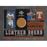 ALEX RODRIGUEZ 2001 Upper Deck Gold Glove Leather Bound Glove swatch #LB-AR