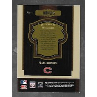 FRANK ROBINSON 2005 Donruss Timeless Treasures World Series Materials auto bat /25
