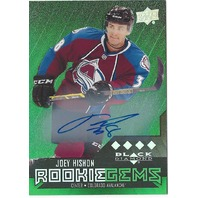 Joey Hishon Rookie Gems Colorado Avalanche BD Autograph /25