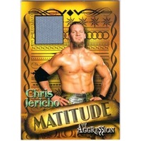 CHRIS JERICHO 2003 Fleer WWE Aggression Matitude Event Used Mat Relic Card #MCJ