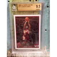 Lebron James 2003-04 Topps Chrome RC Rookie Card #111 Graded 9.5