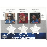 Joey Harrington Steve Yzerman Ben Wallace 2003 Detriot City All-Stars Jersey/250