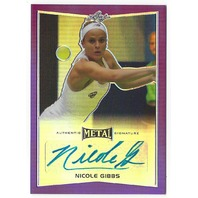 Nicole Gibbs 2016 Leaf Metal Tennis Purple Prismatic Autograph /25 auto signed