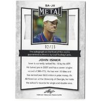 John Isner 2016 Leaf Metal Purple Auto Autograph /15