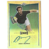 Andy Murray 2016 Leaf Metal Tennis Silver Prismatic Autograph auto #BA-AMI