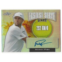 Mardy Fish 2016 Leaf Metal Tennis Fastest Serve 232kmh Prismatic Autograph auto