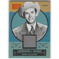 Hank Williams 2014 Panini Golden Age Legends of Music #5 Memorabilia Card