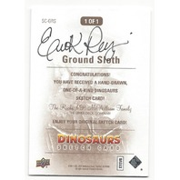 Erik Reeves Ground Sloth Hand Drawn 1/1 Dinosaurs Artist Sketch Card