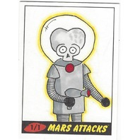Jason Adams Mars Attacks 1/ 1 Autograph 2012 Artist Sketch Card auto signed