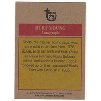 Burt Young 2013 Topps 75th Rocky IV Paulie Rare Autograph Card