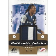 Shalrie Joseph Authentic Game Used MLS New England Revolution Jersey Card /35