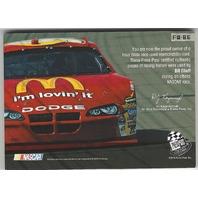 Bill Elliott NASCAR Press Pass Four Wide #FW-BE Sheet Metal Tire Glove Suit /15