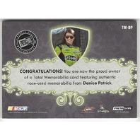 Danica Patrick 2012 PressPass Total Memorabilia Tire Suit Glove Shoe /50