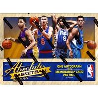 2015/16 Panini Absolute Basketball 4 Pack Hobby Box (Sealed) (Random)